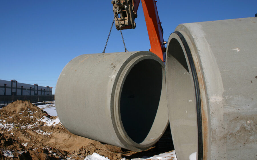 Stormwater drainage pipe with Tylox SuperSeal gasket