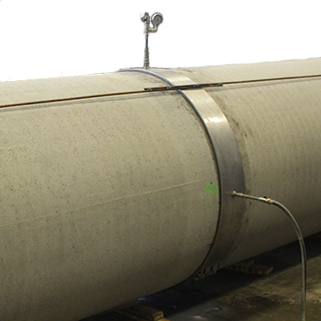 Testing of watertightness of a pipe joint with the HK Test Coupling by Straub